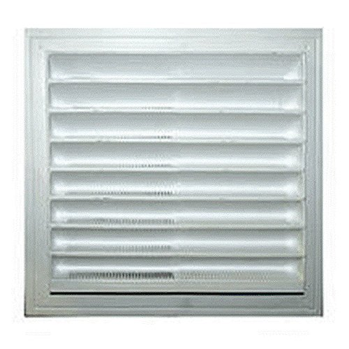 Master Flow 12 in. x 12 in. Plastic Thermoformed Wall Static Vent in White (Static Vent)