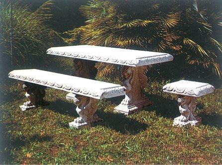 イタリア製 角型テーブル角型ベンチ角型椅子セット B00FGR2MQW