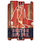 WinCraft MLB Boston Red Sox Wood Fence Sign, Black