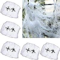 Adkwse 5 Set Halloween Spinnweben Dekoration Spinnennetz