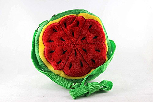 Eonkoo New Cute Red Strawberry Plush Backpack school Book Bag Shoulder for Baby Girl Gift,Lightweight Fruit Personalized Handbag Purse with Adjustable Strap mini Satchel Knapsack