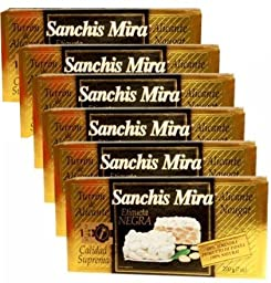 Sanchis Mira Turron de Alicante 7 oz. Just Arrived from Spain. Pack of 6