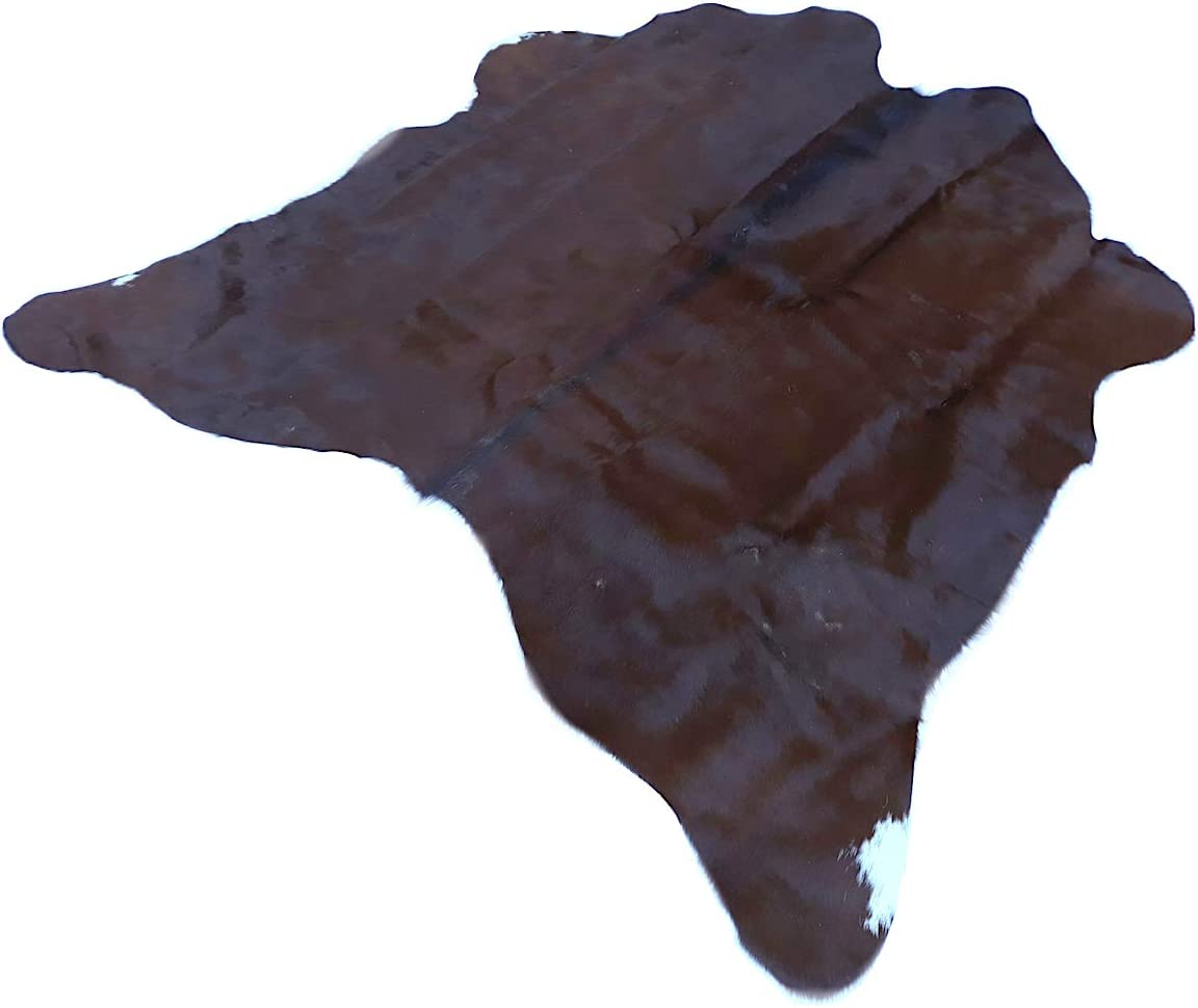 Natural Cowhide Rug Small Dark Brown Pattern Approx 140 Cm X 130 Cm Luxury Designer Hide By Narbonne Leather Amazon Co Uk Kitchen Home