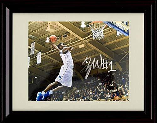 Duke Blue Devils Framed - Framed Zion Williamson Autograph Replica Print - Duke Blue Devils