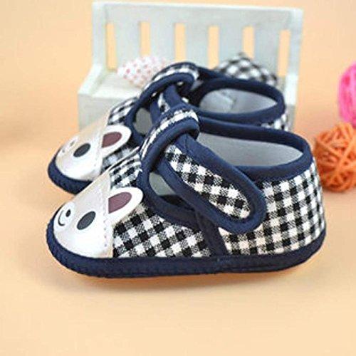 Huhu833 Kinder Mode Baby Schuhe Weiche Sohle Krippe Kleinkind Schuhe Leinwand Sneaker Blau