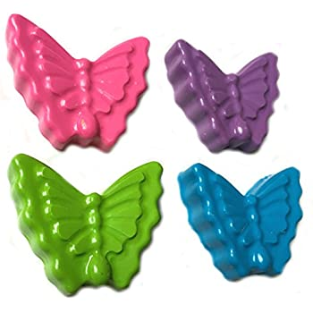 40 Butterfly Crayons by MinifigFans™ - Birthday Party Favors - 10 Sets of 4 - Made in the USA from Crayola Crayons