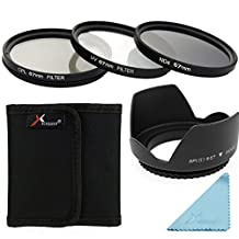 XCSOURCE 67mm 3PCS UV CPL ND4 Filter + Lens Hood For Nikon D800 D700 D610 D600 D300S D90 LF284