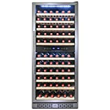 Kitchen & Housewares : FIREBIRD 116 Bottle Dual Zone Freestanding Electric Wine Cooler Chiller Refrigerator w/ Touch Control Built-in Compressor
