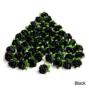 Techinal 50Pcs Roses Artificial Silk Flower Heads DIY Small Bud Party Wedding Home Decor 119