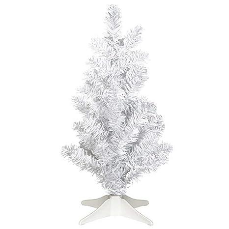 brand new 6017a 32a78 Amazon.com: Darice Mini White Tinsel 14in Christmas Tree ...