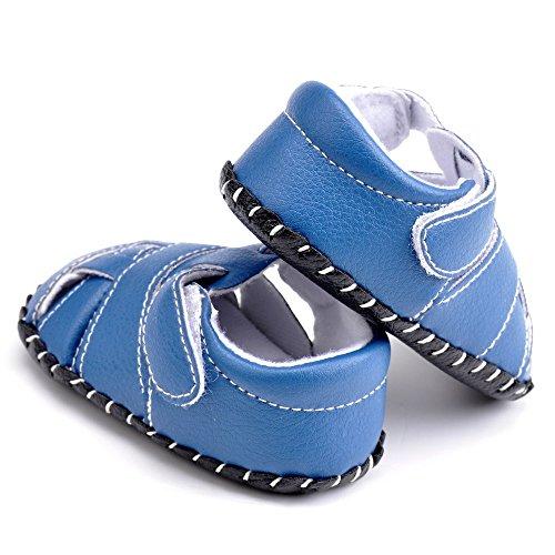 estamico infantil con forma de Boy de piel suela de goma Zapatillas Primera Walkers azul azul Talla:12-18 meses