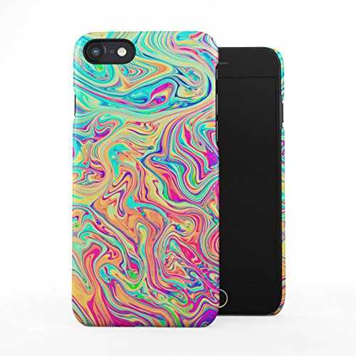 Soap Film Tie Dye Colorful Iridescent Pale Rad Indie Boho Tumblr Plastic Phone Snap On Back Case Cover Shell Compatible with iPhone 7 & iPhone 8