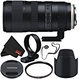 6Ave Tamron SP 70-200mm f/2.8 Di VC USD G2 Lens for Canon EF (International Model) + 77mm UV Filter + Lens Cap Keeper + MicroFiber Cloth Bundle