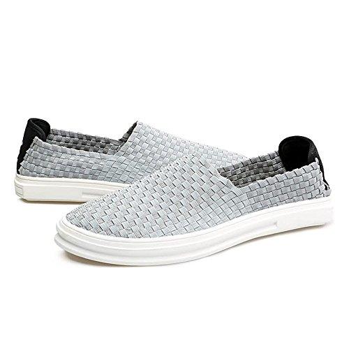 Driving shoes Classi Nuovo comode 2018 Suole Heel Loafer Grigio Spli su Shape Xujw Mocassini Men's Flat qFR1wnnx