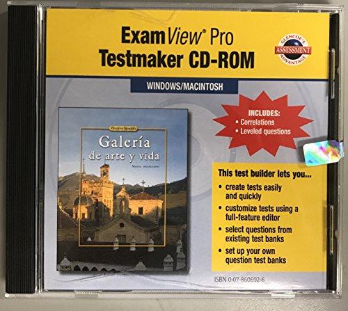 ExamView Pro Testmaker CD-ROM for Galeria de arte y vida (Nivel avanzado) [Glencoe Spanish]