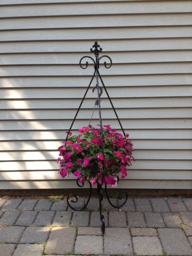44 Rain Drop Shaped Folding Plant Stand (Hanging Basket Stand)
