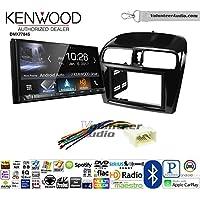 Volunteer Audio Kenwood DMX7704S Double Din Radio Install Kit with Apple CarPlay Android Auto Bluetooth Fits 2014-2015 Mitsubishi Mirage
