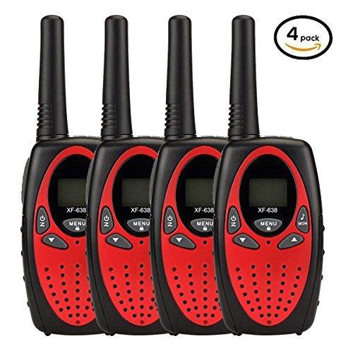 - YEOOM Handheld Kids Walkie Talkies 22 Channel 0.5W FRS/GMRS 2 Way Radios Long Range Outdoor(Red, Pack of 4)