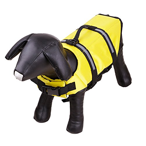 XXS yellow XXS yellow Dog Clothes, Dog Life Jacket, Outdoor Dog Swimsuit, of Safe Swimming Pool in Summer,Yellow,XXS