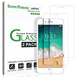 "Wireless : amFilm iPhone 8, 7, 6S, 6 Screen Protector Glass, amFilm Tempered Glass Screen Protector for Apple iPhone 8, 7, iPhone 6S, iPhone 6 [4.7""inch] 2017 2016, 2015 (2-Pack)"