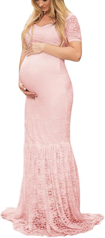 VEMOW Schwangere Damen Kleider Fotografie Off Schulter V-Neck