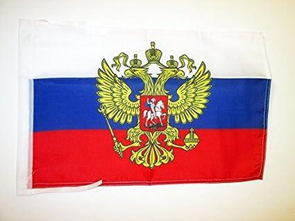 AZ FLAG Bandera de Rusia con Aguila 45x30cm - BANDERINA Rusa con Armas 30 x 45 cm cordeles: Amazon.es: Hogar
