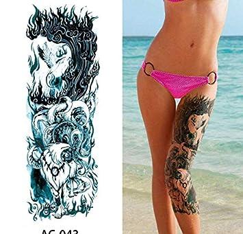 yyyDL Brazo completo tatuaje temporal manga tatuajes impermeables ...