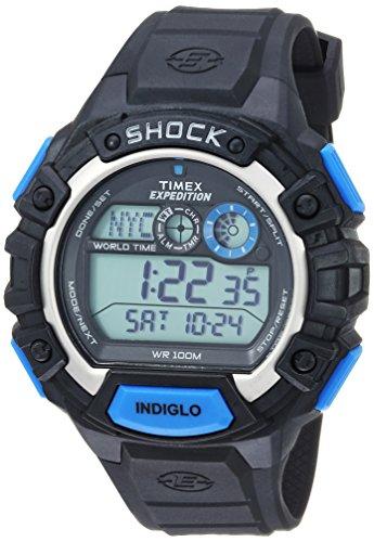 Timex Men's 'Expedition' Quartz Resin Casual Watch, Color:Black (Model: TW4B004009J)