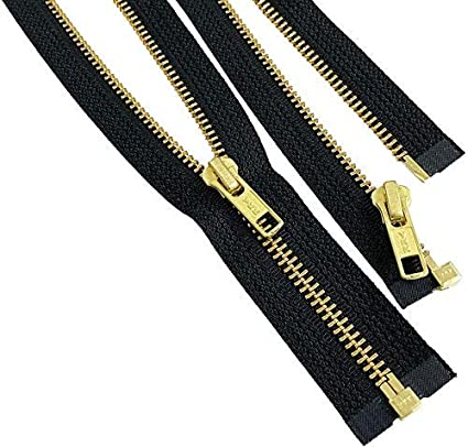 1 Zipper//pack Separating ~ 580 Black 19\ Nickel Zipper ~ YKK #5 Nickel Metal