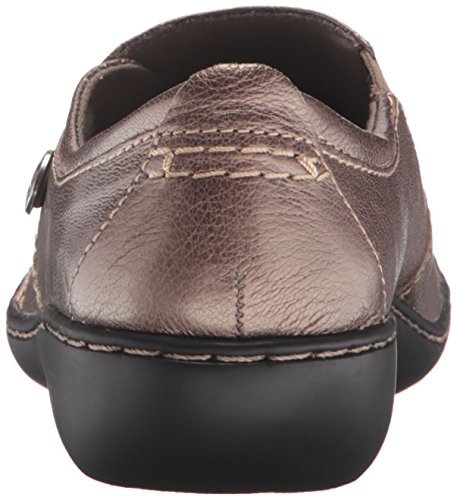 Clarks Womens Ashland Lane Q Slip-on Mocassino In Peltro
