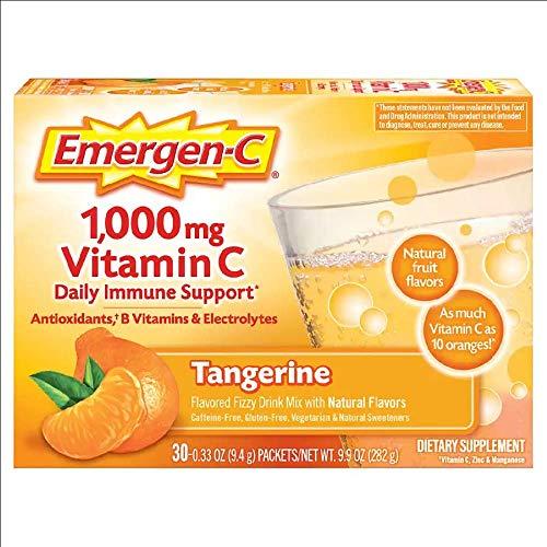 Emergen-C Vitamin C Tangerine Flavored Drink Mix 30 Packets, 0.33 oz ()