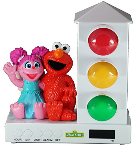 It's About Time Stoplight Sleep Enhancing Alarm Clock for Kids, Elmo & Abby