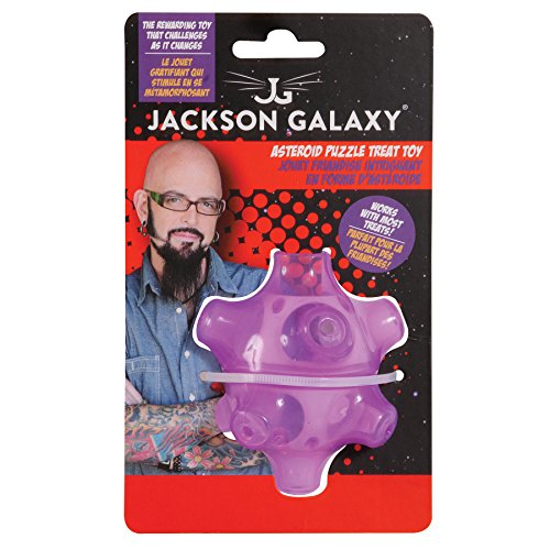 Petmate jackson galaxy asteroid puzzle cat treat toy for Jackson galaxy cat products