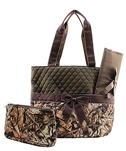 Mom And Baby Star Wars Costume (J&C Family Owned Natural Camo Quilted Brown Diaper Bag)