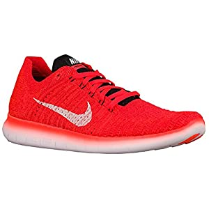 Nike Men's Free Run Flyknit Running Shoes Sneakers Orange Size 11.5