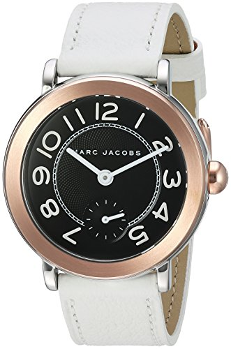 Marc Jacobs Women's Riley White Leather Watch - - Jacobs Marc Marc Buy By