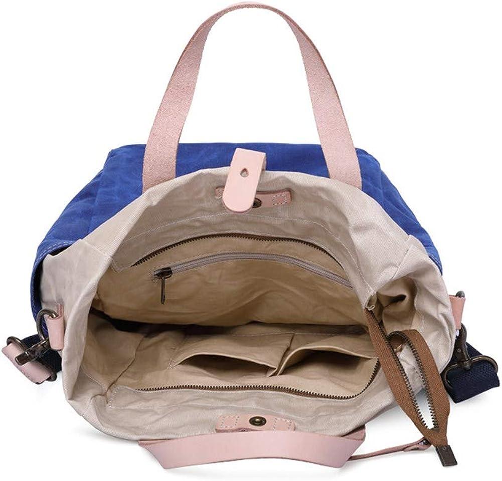 A.OAQRFA Borsa in tela di cera d'olio semplice borsa telone vintage uomo borsa crossbody bag borsa uomo borsa Blu Beige