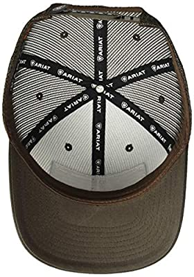 ARIAT Men's Full Mesh Shield Flag Center Cap, Brown, One Size