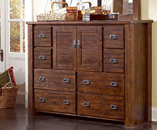 Progressive Furniture P611-24 Trestlewood Dresser, 60