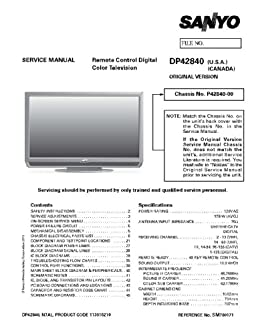 sanyo dp42840 service manual with schematics sanyo amazon com books rh amazon com DP42840 Parts DP42840 Parts