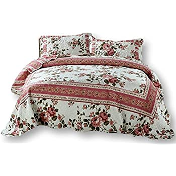 DaDa Bedding BM465L Sunset Rubies Polyester Patchwork 5-Piece Comforter Set Queen//Full Burgundy
