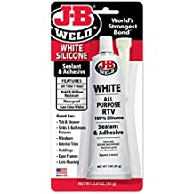 J-B Weld 31312 White All-Purpose RTV Silicone Sealant and Adhesive - 3 oz.
