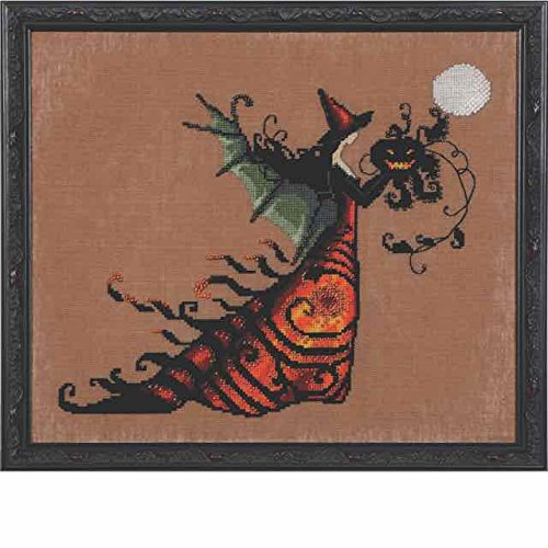 (Electra AIDA Kit Beaded Counted Cross Stitch by Nora Corbett Mirabilia Designs NC219 Bewitching Pixies (Bundle: Chart, Fabric, Beads))