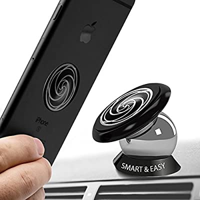 Magnetic Cell Phone Holder for Car -360° Rotation - Ultraslim Magnetic Holder for Dashboard Car Mount Suitable For All Phone Sizes, GPS or Light Tablets - Fits In Any Vehicle-Universal Design