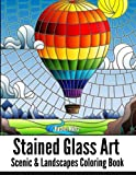 STAINED GLASS ART Scenic & Landscapes Coloring