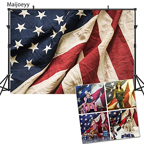 Maijoeyy 7ftx5ft American Flag Photography Backdrop 4th of July Photo Backdrop Background Patriotic Backdrop for Picture 437881657