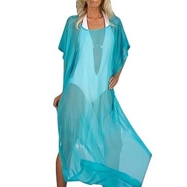 a3b3260eb9 HOMEBABY Women Long Beach Cover Up - Girls Beach Dress Long Suit Bikini  Swimwear Beach Swimsuit Smock Holiday Cover UPS Summer Cardigan Shirt   Amazon.co.uk  ...