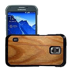 Print Motif Coque de protection Case Cover // M00156290 Junta textura de madera Estructura // Samsung Galaxy S5 Active SM-G870A (Not Fit S5)