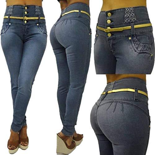Fit Rise S 2Xl Plusieurs gris Femme Jeans Dames Bleu Butt Sexy Taille Haute Pantalons Pantalon Styles Pieds Couleur Slim Unie Petits Simple lastiques Jeans 5wSq4xF