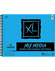 Canson XL Series Mix Media Paper Pad, Heavyweight, Fine Texture, Heavy Sizing for Wet and Dry Media, Side Wire Bound, 98 Pound, 14 x 17 In, 60 Sheets